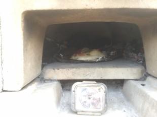 ピザ火入れ