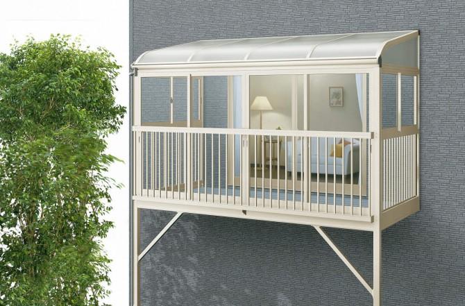 サンフィール3 バルコニー囲い 柱建式 アール型