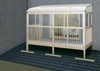 サンフィール3 バルコニー囲い 屋根置式 アール型