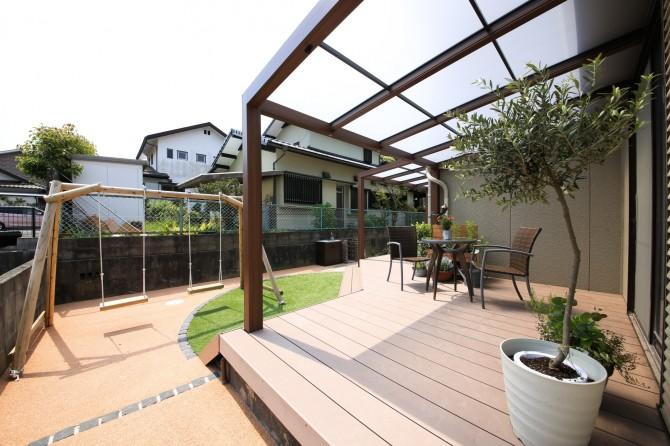 庭と家が一体化した空間