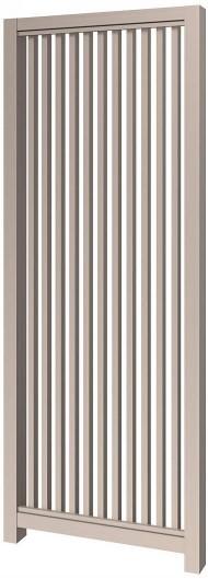 アウタールーフ 正面デザインパネル2型(たて格子)