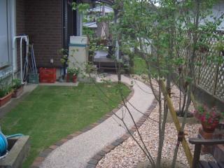 散策型ガーデンの終点