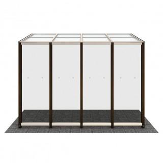 積雪20cm仕様 テラスAタイプ 土間納まり 正面デザインパネル6型(強化ガラス 光触媒コート付き)