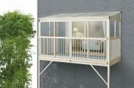 サンフィール3 バルコニー囲い 柱建式 フラット型