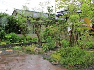 築山のまわりを回遊できる雑木の庭3